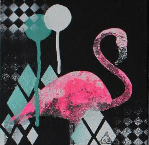 Flamingo at Night by Carly Cornelissen
