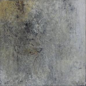 Intimate World 11 by Kym Barrett encaustic on panel 24 x 24 x 4.5cm $225
