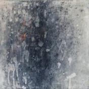 Intimate World 12 by Kym Barrett encaustic on panel 24 x 24 x 4.5cm $225