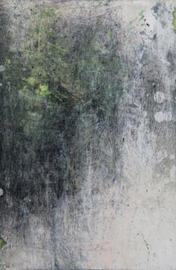 Intimate World 6 by Kym Barrett encaustic on panel 24 x 24 x 4.5cm $225
