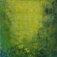 Intimate World 7 by Kym Barrett encaustic on panel 24 x 24 x 4.5cm $225