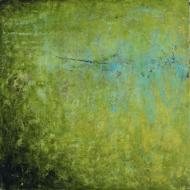 Intimate World 8 by Kym Barrett encaustic on panel 24 x 24 x 4.5cm $225