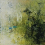 Intimate World 9 by Kym Barrett encaustic on panel 24 x 24 x 4.5cm $225